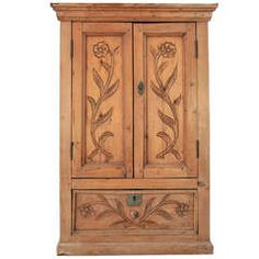 1800's Mexican Wall Cabinet