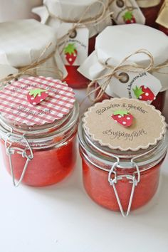 Jar toppers - What a lovely gift ♡