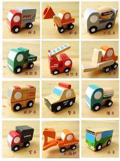Grátis frete japão minicarro de madeira modelo de carro / avião / militar wehicle bebê brinquedos de madeira 12 pcs para um conjunto em Kits de montar de Brinquedos & Lazer no AliExpress.com | Alibaba Group