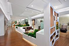 ZGF Architects for Memorial Sloan-Kettering Cancer Center, Brooklyn Infusion Center in Brooklyn, New York.