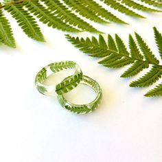 Real pressed fern resin ring - Handmade with real pressed ferns and eco resin. Natural jewellery, eco resin jewellery :) These rings are showcasing real ferns. The fern was pressed and dried and then embedded into the clear resin, that will preserve its beauty for a long time. Great