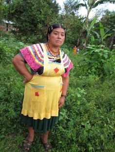 The Chiapas women have some sort of distinctive hand-made outfits - Image by  by digital.democracy