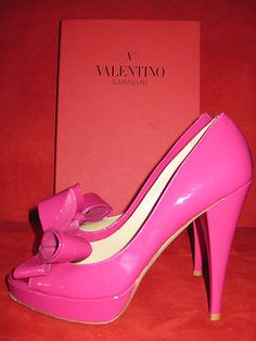 Valentino Couture Bow D'orsay Pink (eu 37.5 Us 8) Pump Heels Shoes