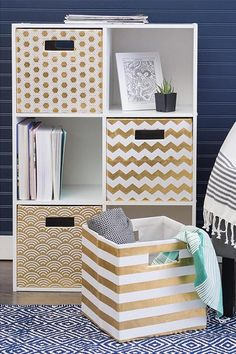 11 Essentials Pro Organizers Say Are Totally Worth It - Cube Storage Containers You are in the right place about diy face mask Here we offer you the most b - Cube Shelving Unit, Cube Storage Unit, Kitchen Storage Units, Diy Storage Boxes, Storage Containers, Decorative Storage Bins, Storage Cubes, Hidden Storage, Cardboard Box Storage