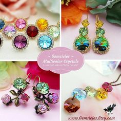 Green Crystal Earrings Emerald Earrings Green Rhinestone