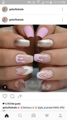 80 stylish acrylic nails for any occasion … - Nail Art Designs Nails Yellow, Pink Acrylic Nails, Acrylic Nail Art, Glitter Nails, Gel Nails, Coffin Nails, Gold Glitter, Pink Coffin, Stiletto Nails