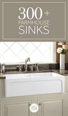 Kitchen Sinks Remodeling The farmhouse sink brings effortless style to your kitchen. Beautifully crafted and built to last, it is sure to be the focal point of your renovation. Kitchen Redo, New Kitchen, Kitchen Sinks, Kitchen Ideas, Kitchen Designs, Kitchen Dining, Kitchen Cabinets, Kitchen Upgrades, Cuisines Design