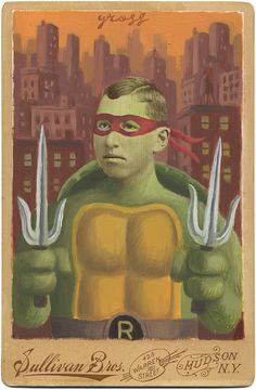 """Raphael"" The Art of Alex Gross - Mixed Media.  Teenage Mutant Ninja Turtle for adults"