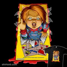 Chucky's Unboxing   Shirtoid #childsplay #chucky #film #horror #movies #sk8rdan