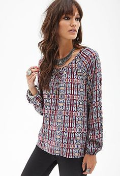Tribal-Inspired Blouse | @forever21