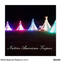 Native American Teepees Poster