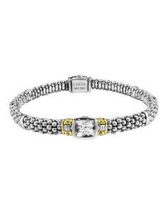 LAGOS Glacier White Topaz Gemstone Bracelet