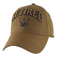 4f06d0c53e5 US Navy Retired 3D Coyote Brown Ball Cap Military Gifts