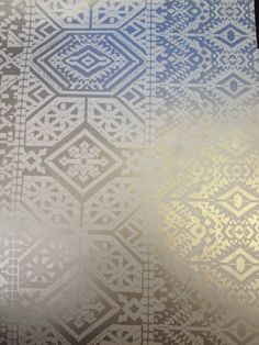 ROMO Xilia Wallcovering Nickel Description An intricate Moorish design beautifully printed in soft metallic tones on coloured grounds. Wallpaper Samples, Moorish, Repeat, Metallic, Space, Printed, Pattern, Collection, Color