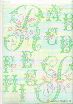 REALCE N°326 Punto de Cruz-Letras para Bordar