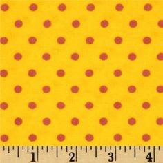 Flannelle imprimé - small dots - yellow/fuchsia