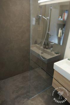 Bodengleiche Dusche Im Beton Look #nassbereich #badezimmer #zurich  #lebewunderbar Beton Dusche