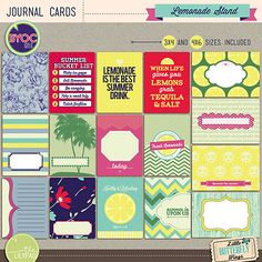 """""""grab tequila and salt!!""""  Lemonade Stand - journal cards 