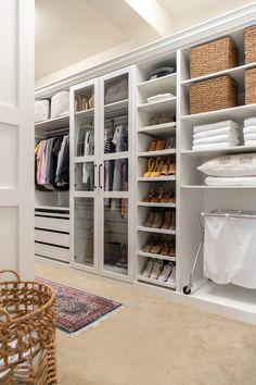 IKEA PAX hack, master closet makeover, glass doors in closet