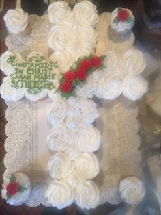 Baptism Cupcakes, Birthday Cake, Desserts, Tailgate Desserts, Deserts, Birthday Cakes, Postres, Dessert, Cake Birthday