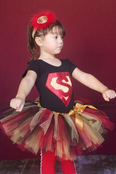 Super Girl Tutu in Red and Black