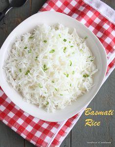 Sandhiya's Cookbook: How To Cook Perfect Basmati Rice in a Pan | Fluffy Basmati Rice
