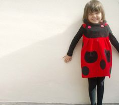 GIRLS DRESS LADYBIRDred & black play dress by wildthingsdresses, £42.00