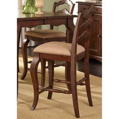 Liberty Furniture Savanna Ladder Back Counter Height Chair - Set of 2 - LFI2518