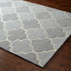 nuLOOM Hand-tufted Trellis Synthetics Grey Rug (8'6 x 11'6) | Overstock.com Shopping - Great Deals on Nuloom 7x9 - 10x14 Rugs