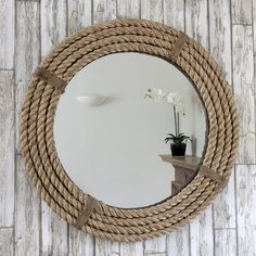 twisted rope round mirror by decorative mirrors online | notonthehighstreet.com