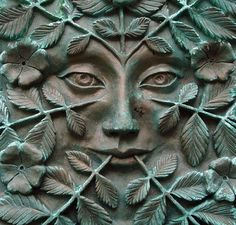 Skriker: The Green Lady. I'm not quiet sure if this is metal or stone but the patina has me tending toward metal. No idea who created it but it caught my attention the moment I saw it ;)