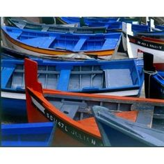 Fishing Boats Morocco Canvas Art - Cyril Blue x Boat Dealer, Kayak Adventures, Bass Boat, Limited Edition Prints, Fishing Boats, Morocco, Kayaking, Original Paintings, Poster Prints
