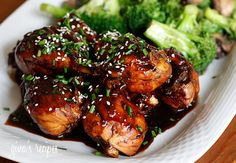 Asian Glazed Drumsticks  Gina's Weight Watcher Recipes  Servings: 4 • Serving Size: 2 drumsticks • Old Points: 5 pts • Points+: 5 pts  Calories: 213 • Fat: 4.7 g • Protein: 27.5 g • Carb: 12.7 g • Fiber: 0.4 g          * 8 medium chicken drumsticks, skin removed      * olive oil spray (I used my Misto)      * 1 cup water      * 1 tbsp Srirac