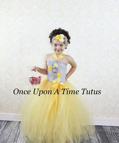 49ebba10d Yellow and Gray Flower Girl Tutu Dress - Spring Photo Prop, Baby Girls Size  12 18 Months 2T 3T 4T 5 6 7 8 10 12 - Summer Wedding Couture