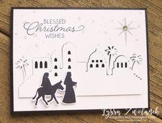 Night in Bethlehem bundle edgelits sizzix stamp set Stampin Up Lyssa Christmas Club holiday cards DIY
