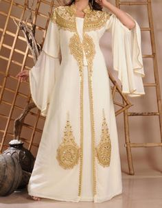 Golden White Kaftan from Retaj Online Shop