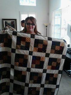Sierra won the diaper raffle quilt