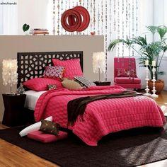Brown and pink bedroom   too cute