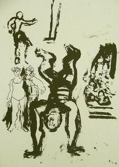 La Edad de la Muerte (V). Litografía, 23 x 15,5 cm. mancha, 31,5 x 23 cm. soporte. 60 €.