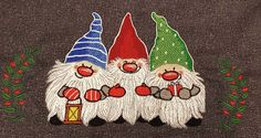 Dwarves machine embroidery design