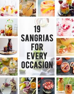 Some really good recipes in this!: 19 Sangrias To Get You Through Life @bettybernier Let's try some, especially #1, #2 or #9!!