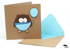Image result for handmade baby boy cards