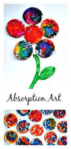 Absorption Art for Spring Blog Me Mom #springcraftsforkids