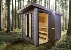 Studio Shed, Garden Studio, Manhattan House, Sauna Design, Outdoor Sauna, Finnish Sauna, Backyard Sheds, House Landscape, Architecture Details