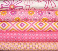 Hubba Hubba Fat Quarter Bundle of 5 by Me & My Sisters Designs for Moda 13.75