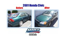 Come in today for a free written estimate! 44201 S., Fremont, CA 94538 Honda Vehicles, Collision Repair, Honda Cars, Car Painting, Honda Civic, Cover, Free