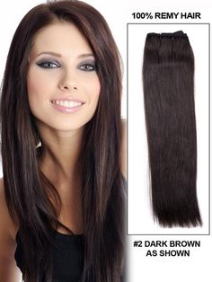 22 Inches Straight 100% Remy Human Hair Extensions Weave