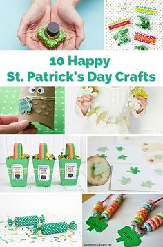 Cute and happy St. Patrick's Day crafts for kids!