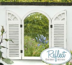 buy wall mirror with shutters delivery by waitrose garden in