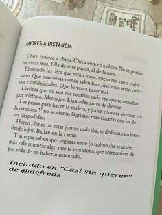 Amores a distancia #Defreds #CasiSinQuerer